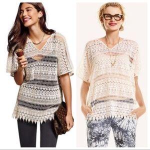 CAbi Love Carol Collection Capri Crochet Boho Top